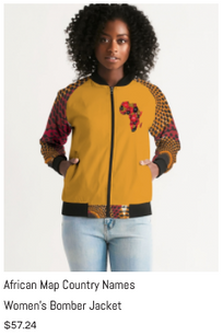 African Names Women's Bomber Jacket.png