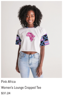 Pink Africa Lounge Cropped Tee