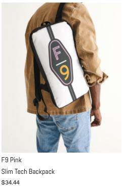 F9 Pink Slim Tech Backpack