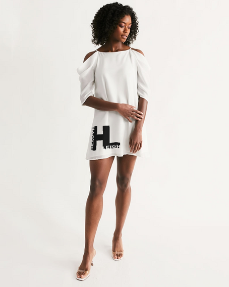 Heavyn Leigh Open Shoulder Dress White