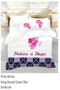 Pink Africa King Duvet Cover Set.png