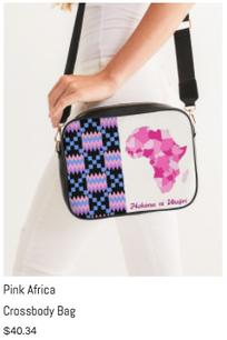 Pink Africa Crossbody Bag
