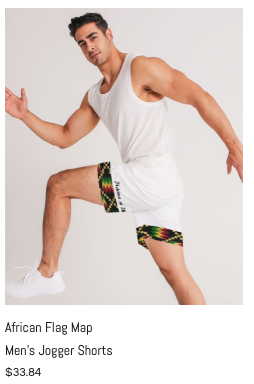 African Flag Map Men's Jogger Shorts.png