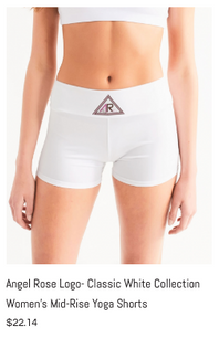 Angel Rose Mid-Rise Yoga Shorts White.pn