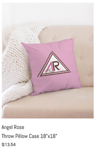 Angel Rose Throw Pillow Case 18x18.png