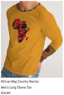 African Names Men's Long Sleeve Tee