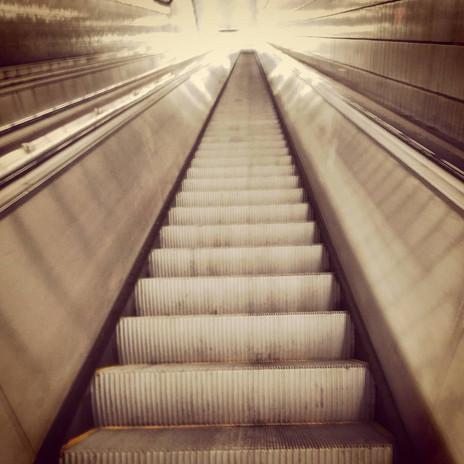 Escalators are out at the Peach Tree Stop, Atlanta