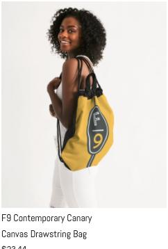 F9 Canary Drawstring Bag