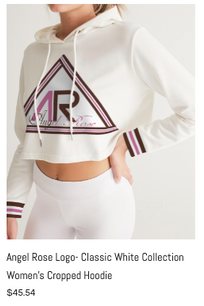 Angel Rose Cropped Hoodie White.png