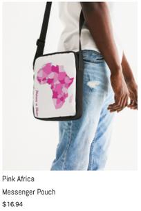 Pink Africa Messenger Pouch