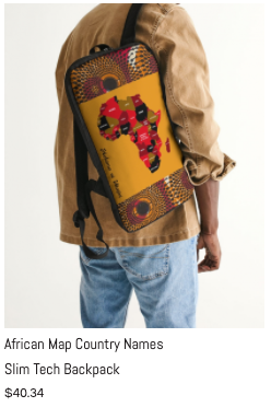 African Names Slim Tech Backpack.png
