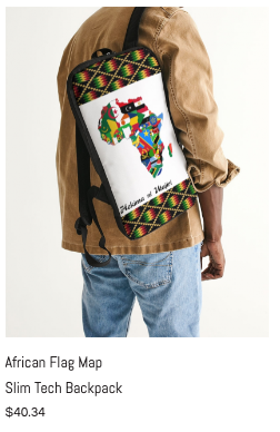 African Flag Map Slim Tech Backpack.png