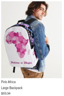 Pink Africa Lg Backpack