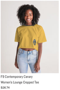 F9 Canary Women's Lounge Cropped Tee