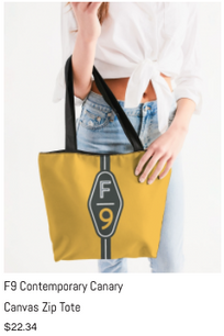 F9 Canary Canvas Tote