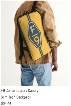 F9 Canary Slim Tech Backpack