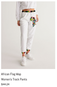African Flag Map Women's Track Pants