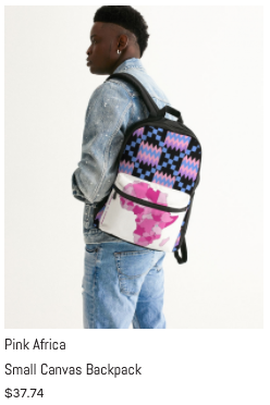 Pink Africa Sm Canvas Backpack