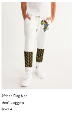 African Flag Map Men's Joggers.png
