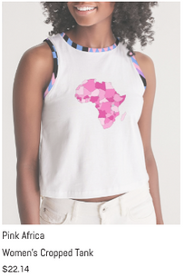 Pink Africa Cropped Tank