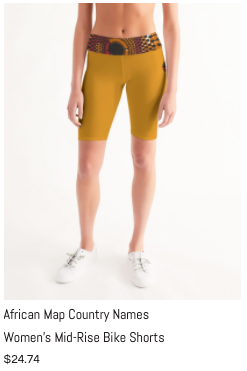 African Names Mid-Rise Bike Shorts