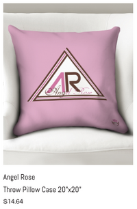 Angel Rose Throw Pillow Case 20x20.png