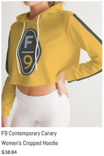 F9 Canary Women's Cropped Hoodie