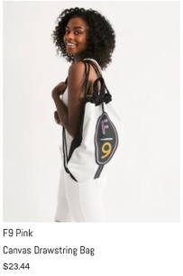 F9 Pink Drawstring Bag