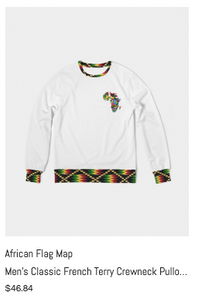 African Flag Map Crewneck Sweatshirt.png