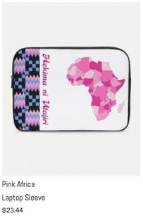 Pink Africa Laptop Sleeve