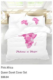 Pink Africa Duvet Cover Set