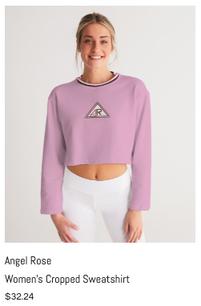 Angel Rose Women's Cropped Sweatshirt.pn