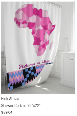 "Pink Africa Shower Curtain 72"" x 72"""