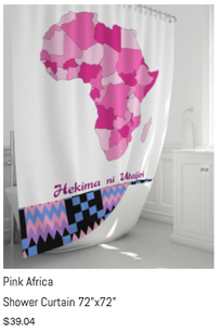 "Pink Africa Shower Curtain 72"" x 72"""