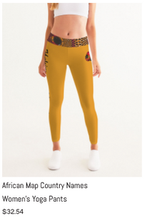 African Names Yoga Pants