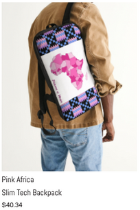 Pink Africa Slim Tech Backpack