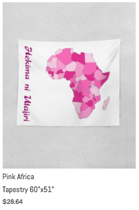 """Pink Africa Tapestry 60"""" x 51"""""""