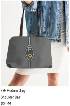 F9 Modern Grey Shoulder Bag