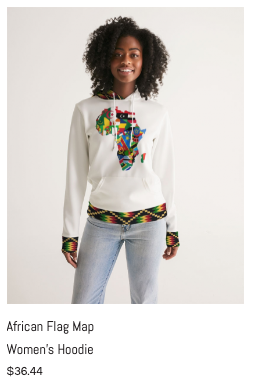 African Flag Map Women's Hoodie.png