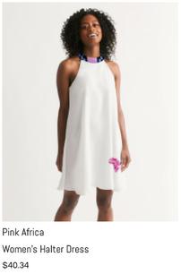 Pink Africa Halter Dress
