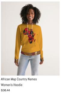 African Names Women's Hoodie