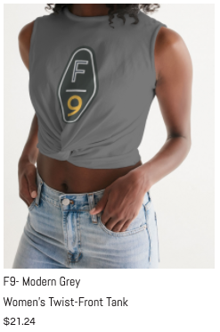 F9 Grey women's Twist-Front Tank.png