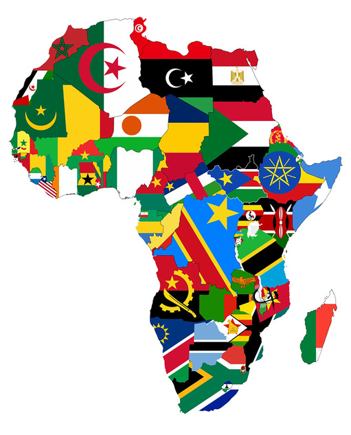 African Flag Map