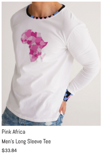 Pink Africa Men's Long Sleeve Tee