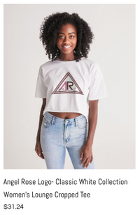 Angel Rose Cropped Tee White.png