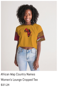 African Names Lounge Cropped Tee