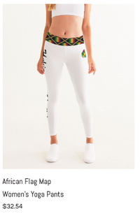 African Flag Map Women's Yoga Pants.png