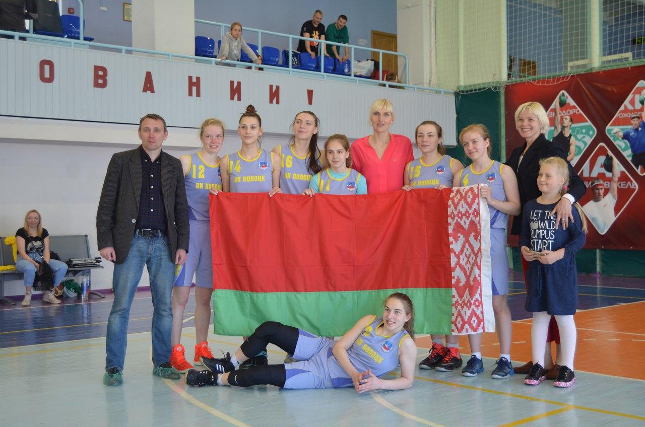 Н.Водопьянова с командой из Беларуси