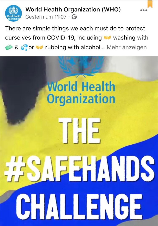 The Safehands Challenge der WHO