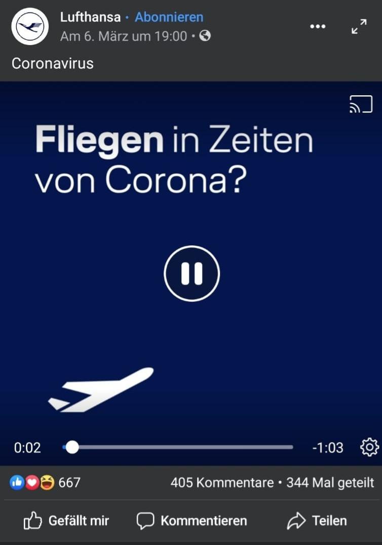 Lufthansa Video Coronavirus